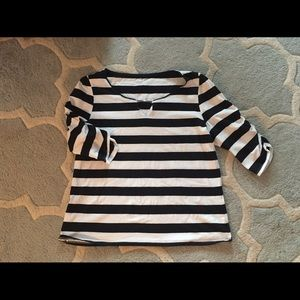 Compliments by Erin London Black/White Cotton Top